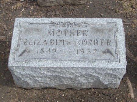 KORBER, ELIZABETH - Cook County, Illinois   ELIZABETH KORBER - Illinois Gravestone Photos