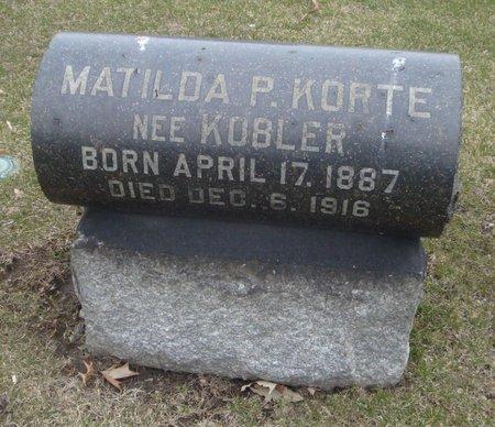 KOBLER KORTE, MATILDA P. - Cook County, Illinois | MATILDA P. KOBLER KORTE - Illinois Gravestone Photos