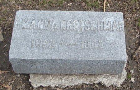 KRETSCHMAR, AMANDA - Cook County, Illinois | AMANDA KRETSCHMAR - Illinois Gravestone Photos