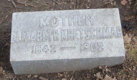 KRETSCHMAR, ELIZABETH - Cook County, Illinois | ELIZABETH KRETSCHMAR - Illinois Gravestone Photos
