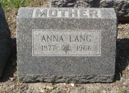 LANG, ANNA - Cook County, Illinois   ANNA LANG - Illinois Gravestone Photos