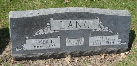 LANG, ELMER E. - Cook County, Illinois | ELMER E. LANG - Illinois Gravestone Photos