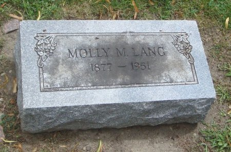 LANG, MOLLY M. - Cook County, Illinois | MOLLY M. LANG - Illinois Gravestone Photos