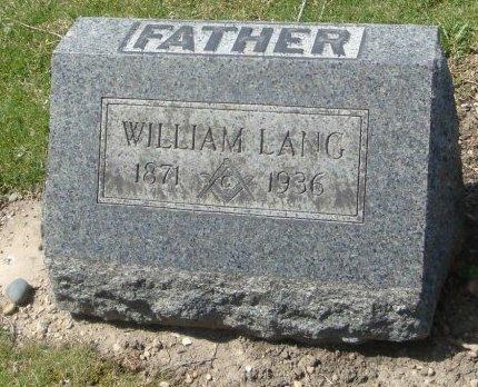 LANG, WILLIAM - Cook County, Illinois | WILLIAM LANG - Illinois Gravestone Photos