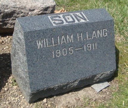 LANG, WILLIAM H. - Cook County, Illinois   WILLIAM H. LANG - Illinois Gravestone Photos
