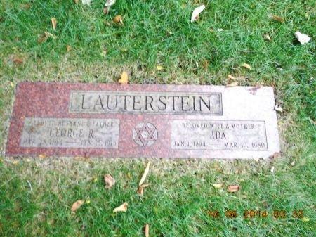 LAUTERSTEIN, GEORGE R. - Cook County, Illinois | GEORGE R. LAUTERSTEIN - Illinois Gravestone Photos