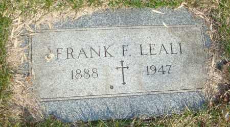 LEALI, FRANK F. - Cook County, Illinois   FRANK F. LEALI - Illinois Gravestone Photos