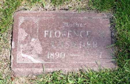 LUSADER, FLORENCE M. - Cook County, Illinois | FLORENCE M. LUSADER - Illinois Gravestone Photos