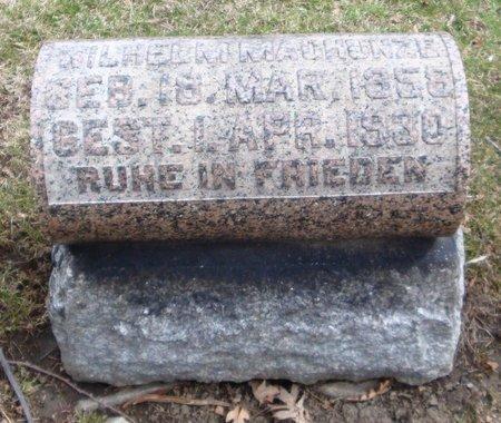 MACHUNZE, WILHELM - Cook County, Illinois | WILHELM MACHUNZE - Illinois Gravestone Photos