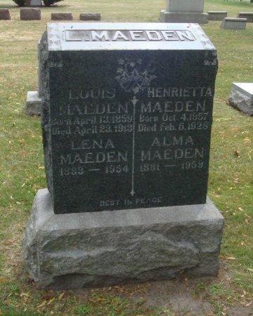 MAEDEN, ALMA - Cook County, Illinois | ALMA MAEDEN - Illinois Gravestone Photos