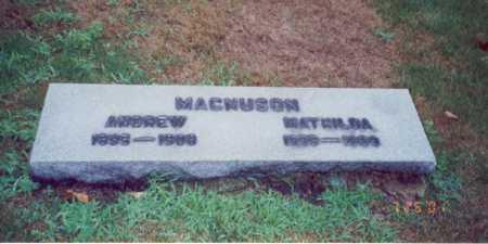 MAGNUSON, ANDREW - Cook County, Illinois | ANDREW MAGNUSON - Illinois Gravestone Photos