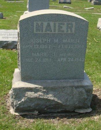 MAIER, JOSEPH - Cook County, Illinois | JOSEPH MAIER - Illinois Gravestone Photos