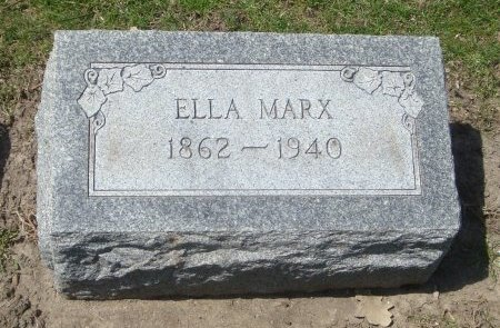 MARX, ELLA - Cook County, Illinois   ELLA MARX - Illinois Gravestone Photos