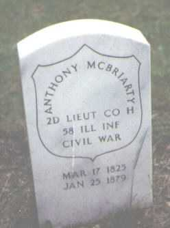 MCBRIARTY, ANTHONY - Cook County, Illinois   ANTHONY MCBRIARTY - Illinois Gravestone Photos