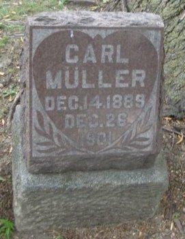 MULLER, CARL - Cook County, Illinois   CARL MULLER - Illinois Gravestone Photos