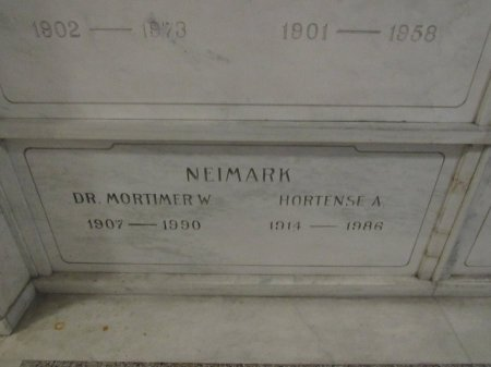 NEIMARK, HORTENSE A. - Cook County, Illinois | HORTENSE A. NEIMARK - Illinois Gravestone Photos