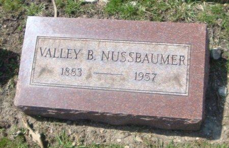NUSSBAUMER, VALLEY B. - Cook County, Illinois | VALLEY B. NUSSBAUMER - Illinois Gravestone Photos