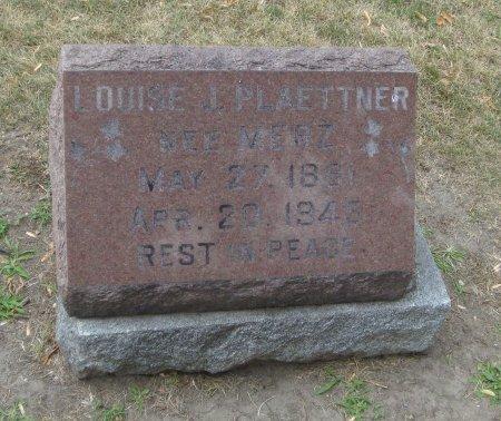 PLAETTNER, LOUISE J. - Cook County, Illinois | LOUISE J. PLAETTNER - Illinois Gravestone Photos
