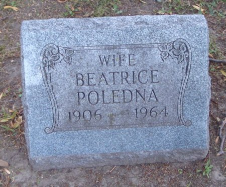 POLEDNA, BEATRICE - Cook County, Illinois | BEATRICE POLEDNA - Illinois Gravestone Photos
