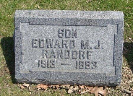 RANDORF, EDWARD M. J. - Cook County, Illinois   EDWARD M. J. RANDORF - Illinois Gravestone Photos