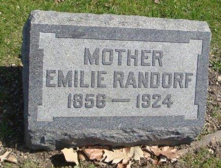 RANDORF, EMILIE - Cook County, Illinois | EMILIE RANDORF - Illinois Gravestone Photos