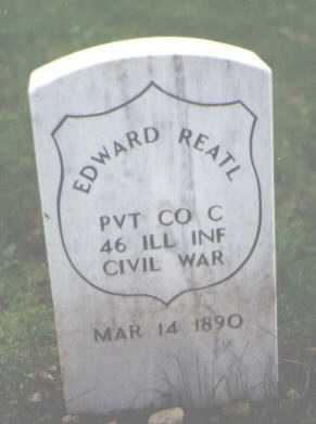 REATL, EDWARD - Cook County, Illinois | EDWARD REATL - Illinois Gravestone Photos