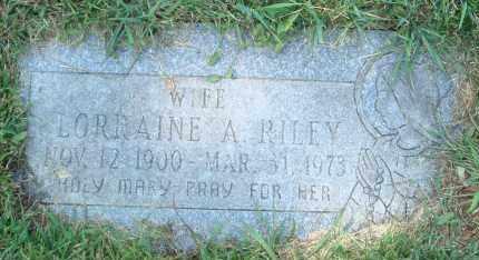 RILEY, LORRAINE A. - Cook County, Illinois | LORRAINE A. RILEY - Illinois Gravestone Photos