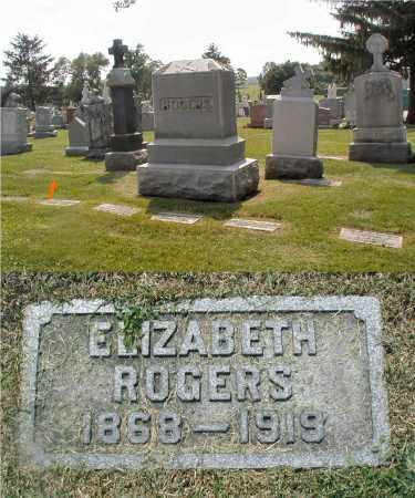 ROGERS, ELIZABETH - Cook County, Illinois   ELIZABETH ROGERS - Illinois Gravestone Photos