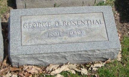 ROSENTHAL, GEORGE D. - Cook County, Illinois | GEORGE D. ROSENTHAL - Illinois Gravestone Photos