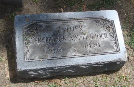 SCHNEIDER, FREDERICK A. - Cook County, Illinois | FREDERICK A. SCHNEIDER - Illinois Gravestone Photos