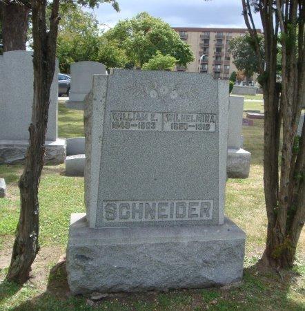 SCHNEIDER, WILLIAM E. - Cook County, Illinois | WILLIAM E. SCHNEIDER - Illinois Gravestone Photos
