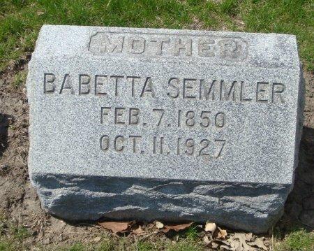 SEMMLER, BABETTA - Cook County, Illinois | BABETTA SEMMLER - Illinois Gravestone Photos