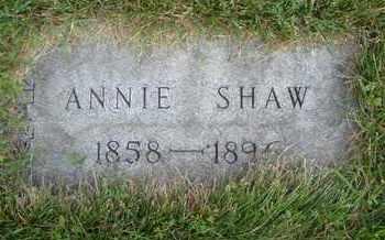 SHAW, ANNIE - Cook County, Illinois | ANNIE SHAW - Illinois Gravestone Photos