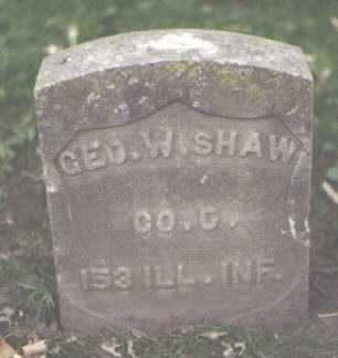 SHAW, GEORGE W. - Cook County, Illinois | GEORGE W. SHAW - Illinois Gravestone Photos