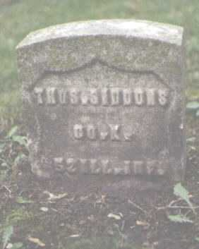 SIDDONS, THOMAS - Cook County, Illinois   THOMAS SIDDONS - Illinois Gravestone Photos