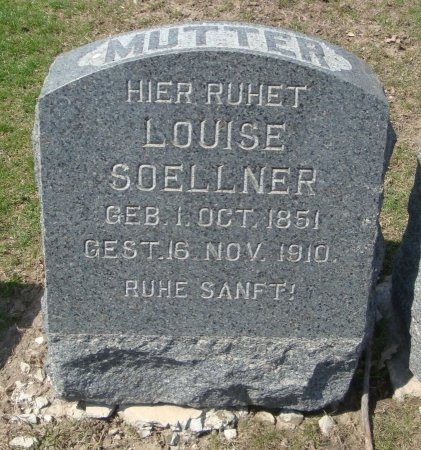 SOELLNER, LOUISE - Cook County, Illinois | LOUISE SOELLNER - Illinois Gravestone Photos