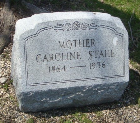 STAHL, CAROLINE - Cook County, Illinois | CAROLINE STAHL - Illinois Gravestone Photos