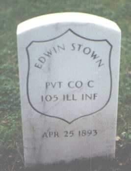 STOWN, EDWIN - Cook County, Illinois | EDWIN STOWN - Illinois Gravestone Photos