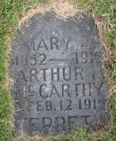 MCCARTHY, ARTHUR J. - Cook County, Illinois | ARTHUR J. MCCARTHY - Illinois Gravestone Photos