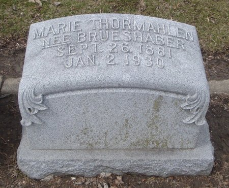 THORMAHLEN, MARIE - Cook County, Illinois | MARIE THORMAHLEN - Illinois Gravestone Photos