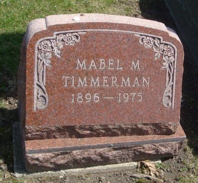 TIMMERMAN, MABEL M. - Cook County, Illinois | MABEL M. TIMMERMAN - Illinois Gravestone Photos