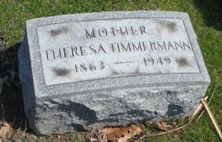 TIMMERMAN, THERESA - Cook County, Illinois | THERESA TIMMERMAN - Illinois Gravestone Photos