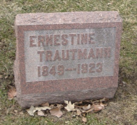 TRAUTMANN, ERNESTINE - Cook County, Illinois | ERNESTINE TRAUTMANN - Illinois Gravestone Photos