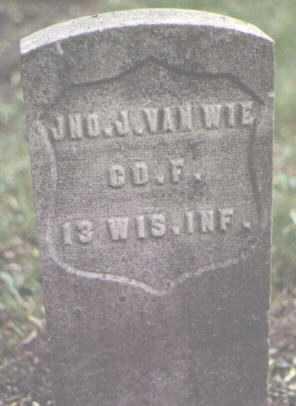 VAN WIE, JOHN J., JNO. - Cook County, Illinois | JOHN J., JNO. VAN WIE - Illinois Gravestone Photos