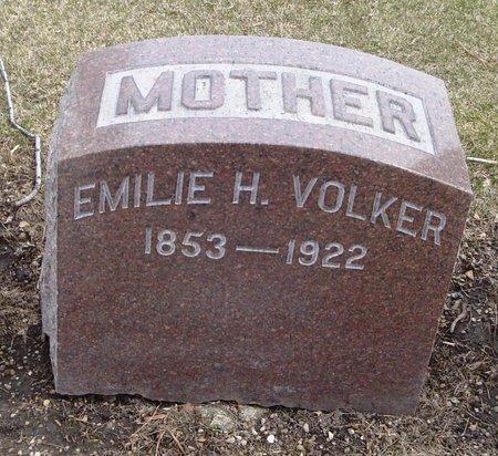VOLKER, EMILIE H. - Cook County, Illinois   EMILIE H. VOLKER - Illinois Gravestone Photos