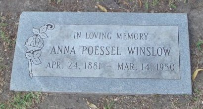 POESSEL WINSLOW, ANNA - Cook County, Illinois   ANNA POESSEL WINSLOW - Illinois Gravestone Photos