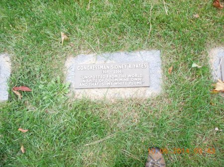 YATES, CONGRESSMAN SIDNEY J. - Cook County, Illinois | CONGRESSMAN SIDNEY J. YATES - Illinois Gravestone Photos