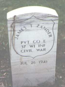 ZANDER, JAMES T. - Cook County, Illinois | JAMES T. ZANDER - Illinois Gravestone Photos