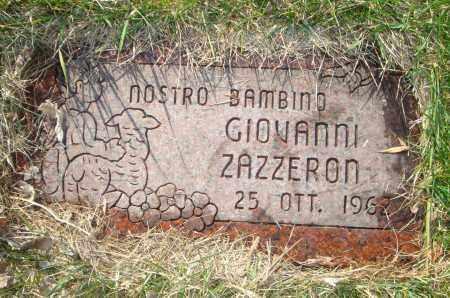 ZAZZERON, GIOVANNI - Cook County, Illinois | GIOVANNI ZAZZERON - Illinois Gravestone Photos