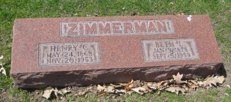 ZIMMERMAN, BETH L. - Cook County, Illinois   BETH L. ZIMMERMAN - Illinois Gravestone Photos
